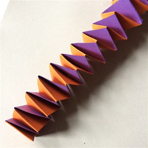 Folded Paper Chain - accordion paper chains colourful minds