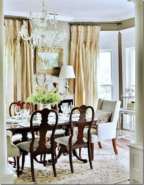 dining room draperies how to hang curtain rods on windows with decorative