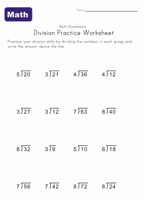 printable simple division worksheets simple division worksheets kids learning station