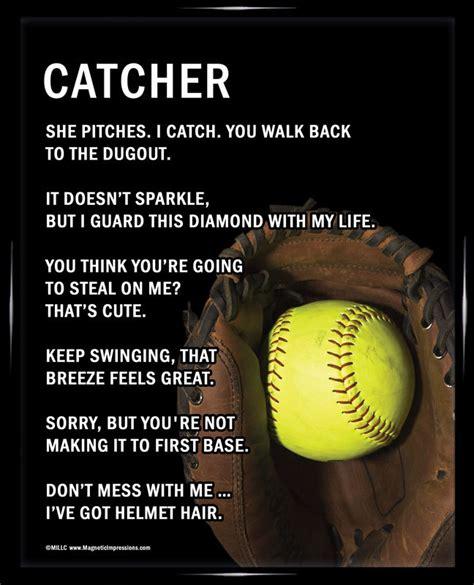 printable softball quotes softball catcher 8x10 sport poster print softball