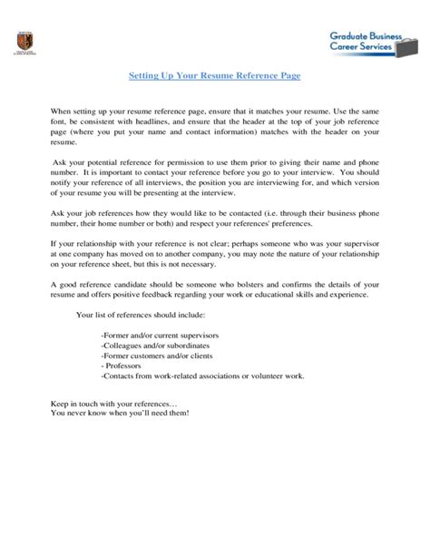 reference sheet for resume template greenjobsauthority com
