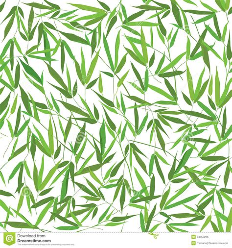 seamless pattern nature floral seamless pattern bamboo leaves stock illustration
