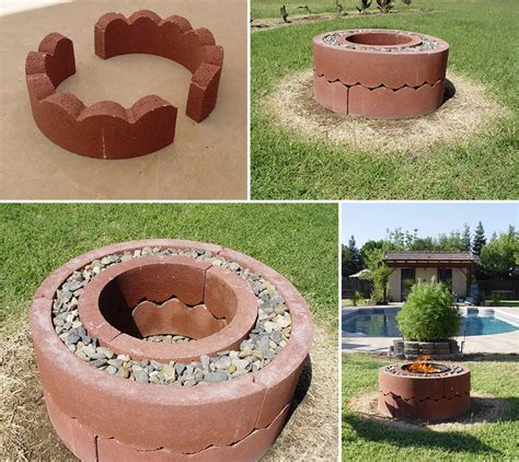 how to make pit using concrete tree rings diy