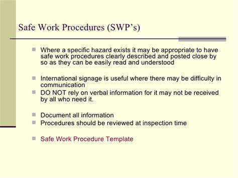 emergency procedures in the workplace template workplace health safety