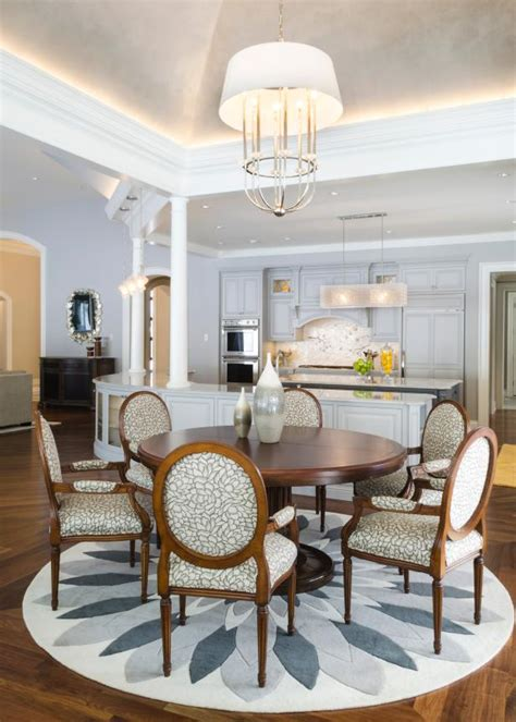 gray white dining room  floral accents eye catching