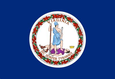 virginia flag and description and virginia seal
