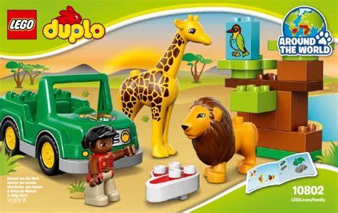 Building Site Plan Lego Savanna Instructions 10802 Duplo