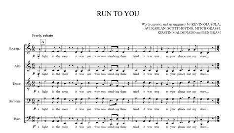 run to you run to you sheet music available ptx fans