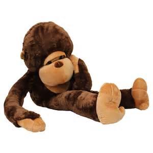 130cm giant huge large big stuffed soft plush brown monkey