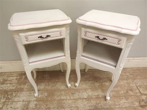 Fancy Bedside Tables A2977 Pair Decorative Bedside Tables