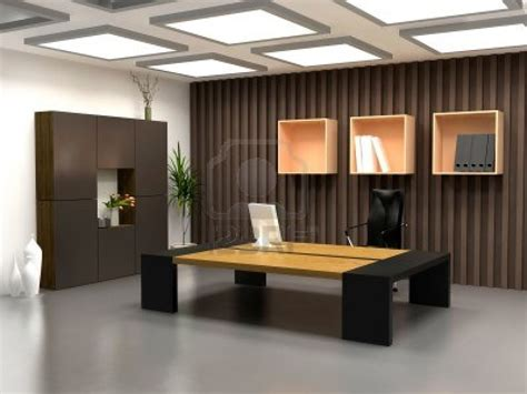 interior design office the modern office interior design 3d render royalty free