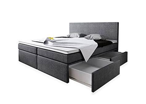 Bett 1 00 X 2 00 by Boxspringbett 180x200 Mit Bettkasten Grau Stoff Hotelbett