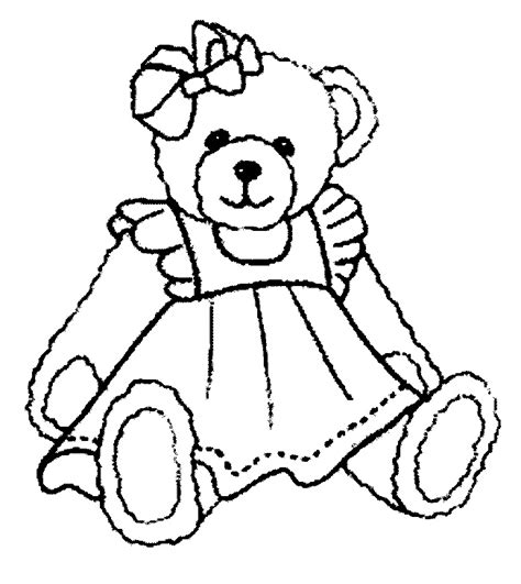 Teddy Bear Coloring Pages For Kids Free Teddy Coloring Pages