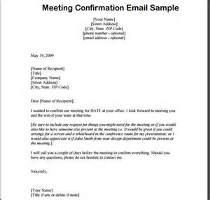 confirmation email template meeting confirmation email writing professional letters