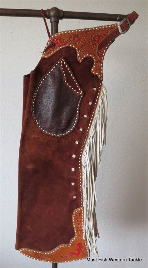 Handmade Chaps - handmade seth ward fringe buckstitched step in bell chaps