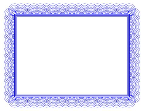 blue certificate border powerpoint template content slide certificate border blue