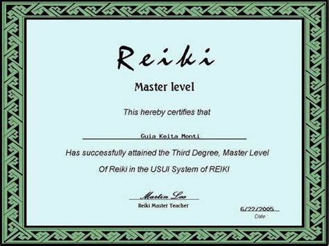 free printable reiki certificates joy studio design