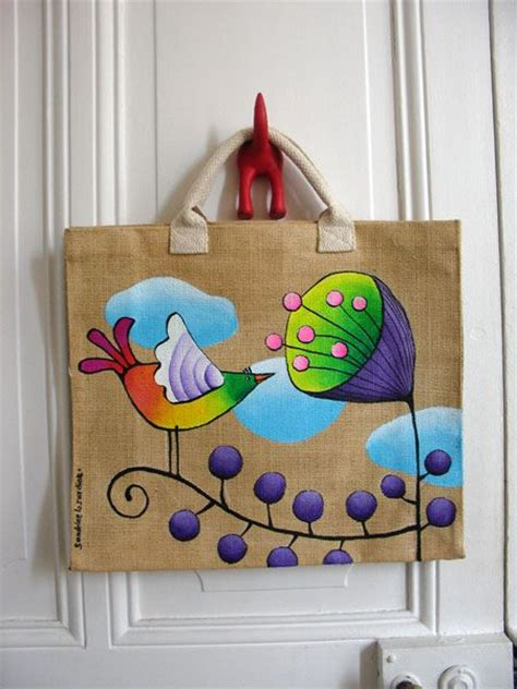 craft ideas block painting  tote bag craft community