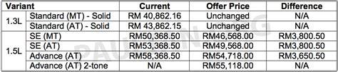 perodua bezza sedan toyota etios rival revealed malaysia 2016 perodua myvi 1 5l advance in images