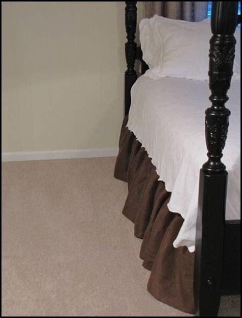 velcro bed skirt velcro burlap bed skirt i am skirts and cinder blocks
