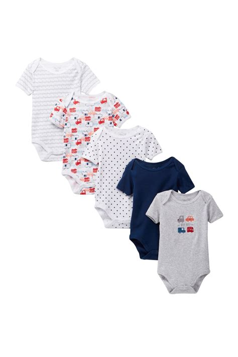 Tote Care Beep rene rofe beep beep bodysuits pack of 5 baby boys