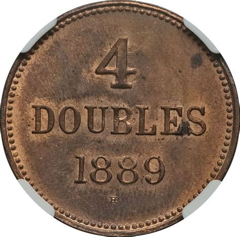 H Mes 1889 4 doubles guernesey numista