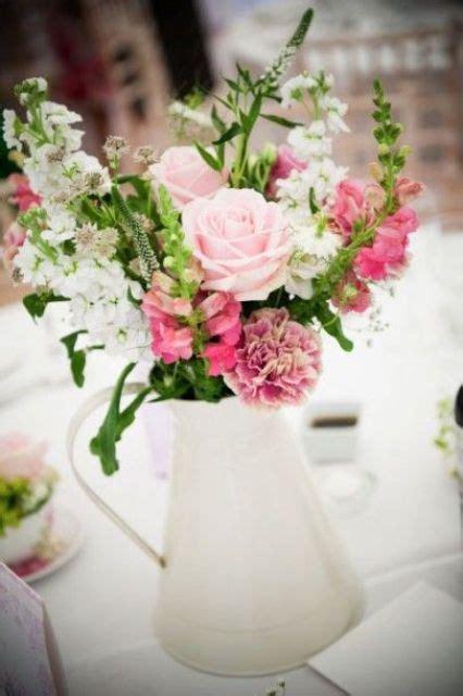 wedding flower jugs modern and vintage wedding decorations with jugs 21 ideas weddingomania
