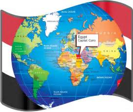 Egypt On World Map large size egyptian flag and map for travelers travel