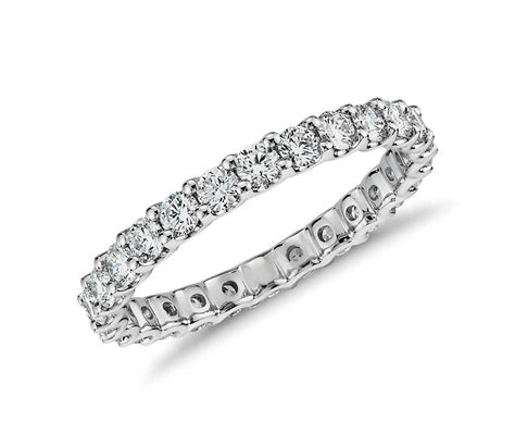 eternity ring in platinum 1 ct tw blue nile