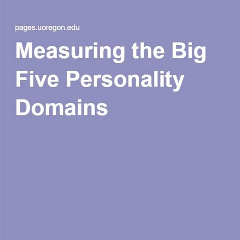 Essay About Personality by Big Five Personality Traits Essay