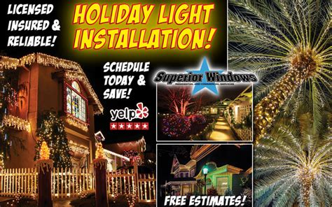 holiday light installation specials san diego window