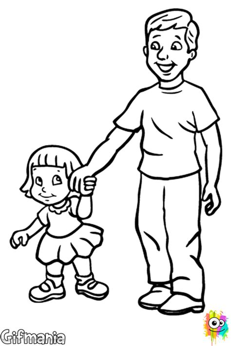 dad and daughter coloring pages coloring pages