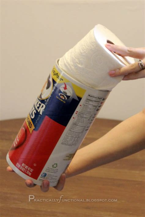 m s toilet paper upcycle oatmeal canister to toilet paper holder