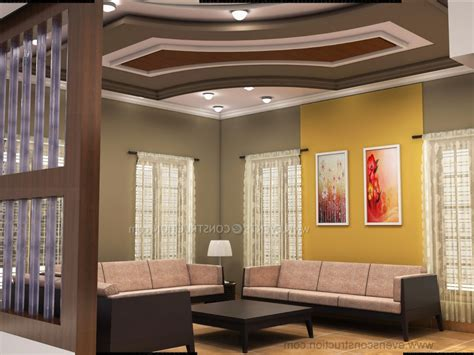 fall ceiling designs for living room kerala style home combo