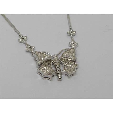 cadenas de oro y diamantes colgante mariposa oro blanco con diamantes y cadena oro