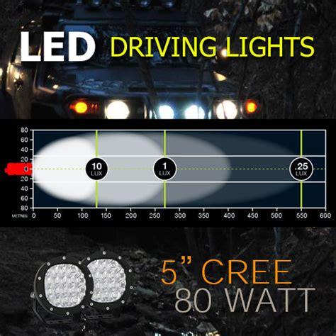 Lu Led Cree 20 Watt led driving light 5 inch 80 watt cree heavy duty pro
