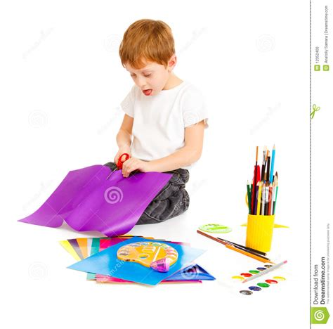boy cut out stock photos pictures royalty free boy cut boy cutting paper stock photo image of crayon creative