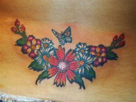 lower back butterfly tattoo designs floral design and butterfly lower back