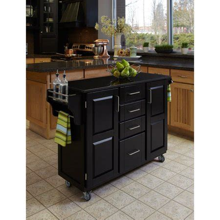 Walmart Kitchen Cart Granite by Home Styles Large Kitchen Cart Black Black Granite Top