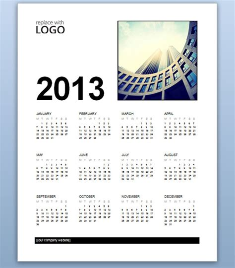 free word calendar templates free business calendar 2013 template for ms word 2013