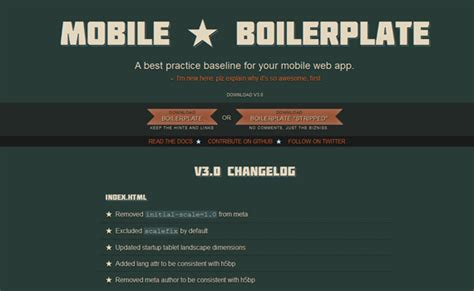 mobile boilerplate useful frameworks and plugins for getting started with