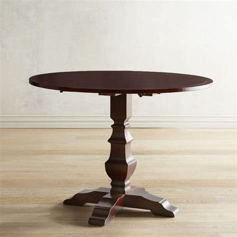 espresso dining table with leaf pedestal dining tables you ll for years to come