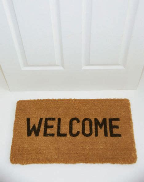 Welcome Home Mats by Council Tenants Banned From Welcome Mats