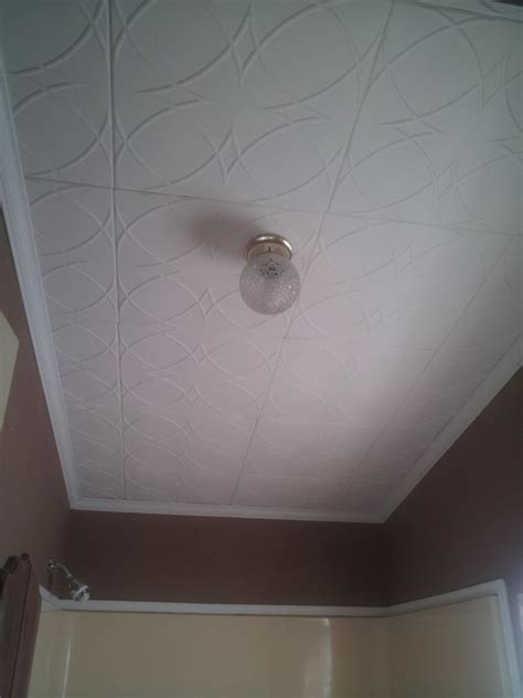 tiled ceiling in bathroom don t forget the bathroom ceiling tiles make a difference