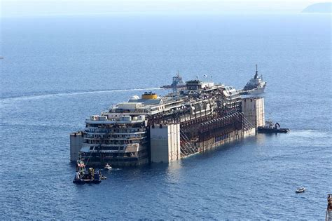 Cruise Ship Sinking by Costa Concordia Doomed Liner Makes Final Journey Before