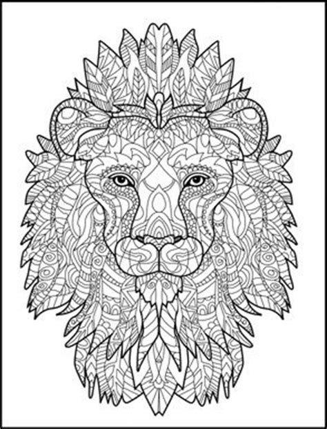 lion coloring page for adults 77 best wild animals to color images on pinterest