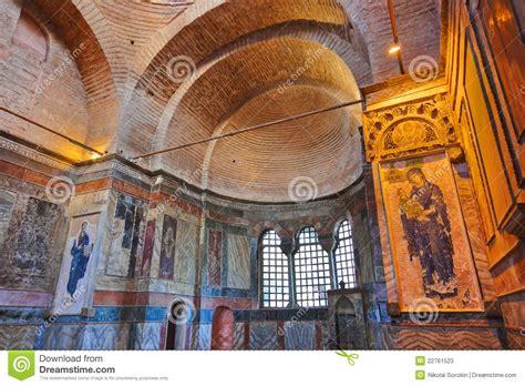 Mosaic Interiors by Mosaic Interior In Chora Church At Istanbul Turkey Stock