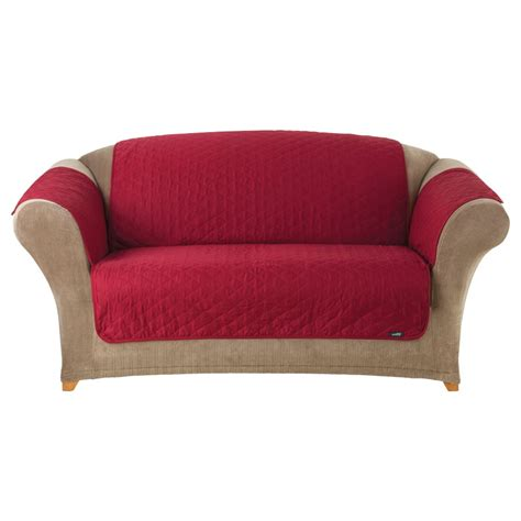 canvas sofa slipcover shop quilted duck red duck canvas sofa slipcover at