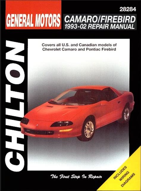 chevy camaro chilton repair manual z28 iroc z berlinetta camaro firebird 1993 02 repair manual chilton
