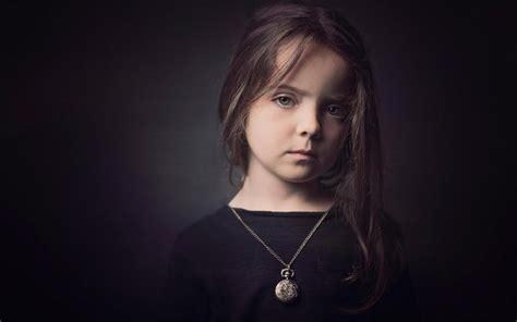wallpaper black girl cute little girl black dress black background wallpaper